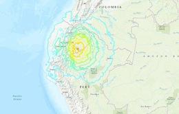 Động đất cường độ 7,7 richter làm rung chuyển khu vực biên giới giữa Ecuador và Peru