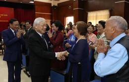 Tổng Bí thư, Chủ tịch nước Nguyễn Phú Trọng gặp gỡ kiều bào tại Lào
