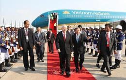Tổng Bí thư, Chủ tịch nước bắt đầu thăm cấp Nhà nước tới Campuchia