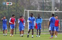CLB Hà Nội tập luyện chuẩn bị cho trận ra quân tại AFC Cup 2019