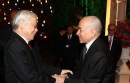 Tổng Bí thư, Chủ tịch nước gửi điện cảm ơn Quốc vương Campuchia