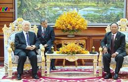 Tổng Bí thư, Chủ tịch nước hội kiến Chủ tịch Quốc hội Campuchia