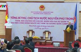 Tổng Bí thư, Chủ tịch nước gặp cộng đồng người Việt Nam tại Campuchia