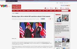 Dư luận Trung Quốc quan tâm tới hội nghị thượng đỉnh Mỹ - Triều