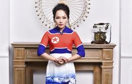 """Thái Thuỳ Linh """"thần thái ngời ngời"""" trong trang phục áo dài cờ Mỹ - Triều"""