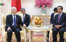 Việt Nam luôn ưu tiên cao việc củng cố, tăng cường quan hệ với Campuchia
