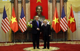 VIDEO Tổng thống Mỹ Donald Trump tới Phủ Chủ tịch hội đàm với Tổng Bí thư, Chủ tịch nước Nguyễn Phú Trọng