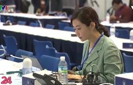 Phóng viên quốc tế túc trực tác nghiệp tại Hội nghị thượng đỉnh Mỹ - Triều Tiên
