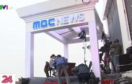 Tham quan trường quay tác nghiệp về Hội nghị thượng đỉnh Mỹ - Triều của một hãng tin quốc tế