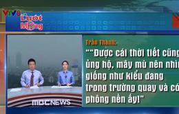 Đài truyền hình Hàn Quốc dựng trường quay trên nóc khách sạn ở Hà Nội khiến dân mạng thích thú