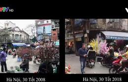 Hà Nội 10 năm trước và hôm nay
