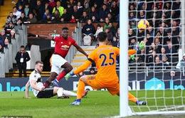 VIDEO Pogba ghi bàn đẹp mắt từ góc hẹp vào lưới Fulham
