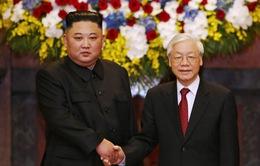 Tổng Bí thư, Chủ tịch nước Nguyễn Phú Trọng đón, hội đàm với Chủ tịch Triều Tiên Kim Jong-un