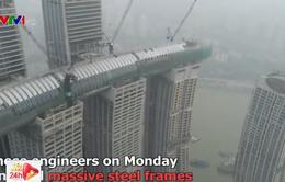 """Trung Quốc chuẩn bị khánh thành tổ hợp """"cao ốc nằm ngang"""""""