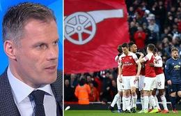 """Jamie Carragher: """"Arsenal yếu nhất trong top 6!"""""""