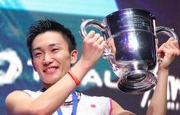 Kento Momota lần đầu tiên vô địch đơn nam Giải Cầu lông toàn Anh