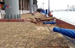 Đà Nẵng: Bờ kè sông Hàn xuống cấp trầm trọng