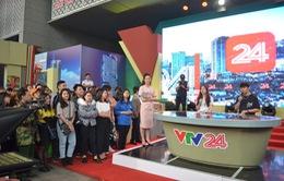 Không gian đặc biệt của VTV24 tại Hội Báo toàn quốc