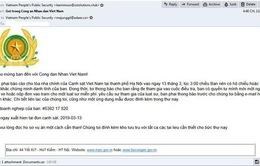 Hacker giả mạo email Bộ Công an phát tán mã độc tống tiền vào Việt Nam