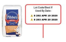 Thu hồi hơn 12 nghìn gói bột làm bánh Pillsbury do nghi nhiễm khuẩn salmonella