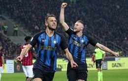 Thắng AC Milan, Inter Milan vươn lên vị trí thứ 3 BXH Serie A