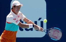 Kei Nishikori bị loại ở vòng 2 Miami mở rộng 2019