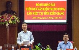 Tiểu ban văn kiện Đại hội XIII làm việc tại Kiên Giang