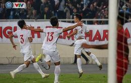 """ẢNH: Ghi bàn ở phút bù giờ, U23 Việt Nam giành chiến thắng """"nghẹt thở"""" trước U23 Indonesia"""