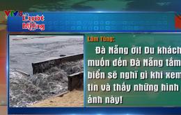 Dư luận bức xúc trước tình trạng nước thải lại tràn ra biển Đà Nẵng sau trận mưa lớn