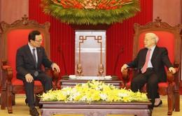 Tổng Bí thư, Chủ tịch nước tiếp Chủ tịch Đảng Dân chủ Đồng hành Hàn Quốc