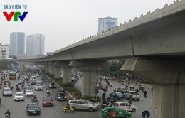 Sửa đường bên dưới đường sắt Cát Linh - Hà Đông