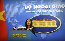 Yêu cầu Trung Quốc chấm dứt diễn tập, xây dựng tại Hoàng Sa