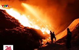 Bà Rịa-Vũng Tàu: Cháy lớn tại khu xử lý chất thải tập trung