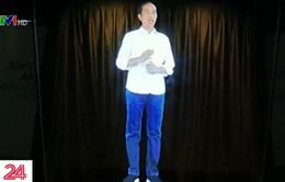 Tổng thống Indonesia dùng công nghệ Hologram để vận động tranh cử