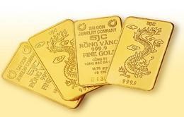 Giá vàng SJC tăng sau 5 phiên giảm liên tiếp