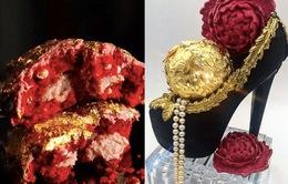 Chiêm ngưỡng chiếc bánh siêu đắt được bọc vàng 23 karat