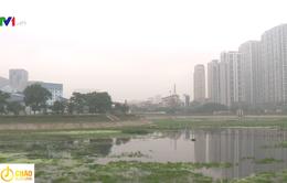 Hồ điều hòa Nhân Chính cạn nước dù mới hoạt động