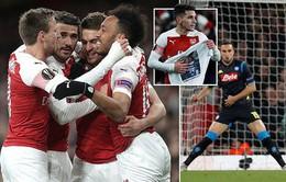 Kết quả lượt đi tứ kết Europa League: Arsenal 2 - 0 Napoli, Benfica 4 - 2 Frankfurt, Slavia Praha 0 - 1 Chelsea, Villarreal 1 - 3 Valencia