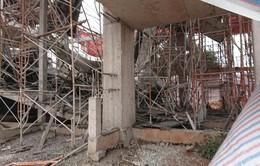 Sập giàn giáo ở Đăk Lăk, 8 người bị thương