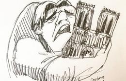 """Cả thế giới xót xa khi """"trái tim"""" của Paris bùng cháy"""