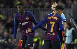 """Barcelona đau đầu chọn Dembele và Coutinho để """"hạ sát"""" Man Utd"""
