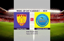 VIDEO Highlights CLB Thanh Hóa 2-2 Sanna Khánh Hòa BVN (Vòng 6 Wake-up 247 V.League 1-2019)