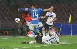 """Ngôi Á quân Serie A của Napoli bị """"đe dọa"""" sau trận thua trên sân nhà"""