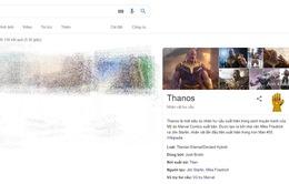Găng tay vô cực của Thanos ảnh hưởng tới Google như thế nào?