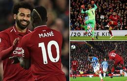 Liverpool 5-0 Huddersfield: Giành lại ngôi đầu
