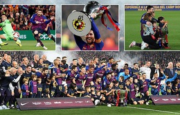 Vòng 35 giải VĐQG Tây Ban Nha La Liga: Messi cùng Barcelona vô địch sớm 3 vòng đấu