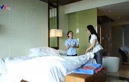 Công việc bận rộn của nhân viên khách sạn