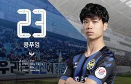 CHÍNH THỨC: Công Phượng đá chính trong trận Incheon Untied gặp Daegu FC