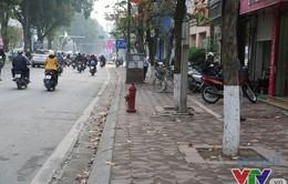 Cải tạo vỉa hè tại nhiều tuyến phố ở Hà Nội