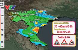 Cảnh báo mưa giông Bắc Bộ và Bắc Trung Bộ
